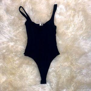 Sky & Sparrow black thong bodysuit